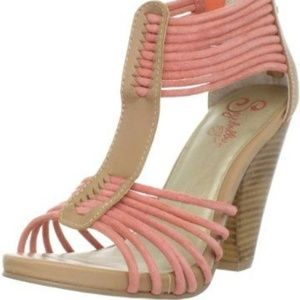⚜Seychelles Coral Sandals Leather Upper 8🎁